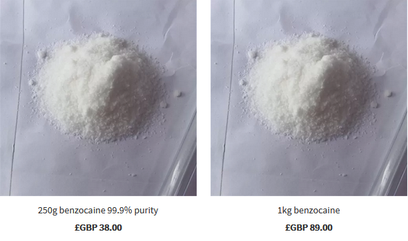 How to know about the supply of benzocaine?